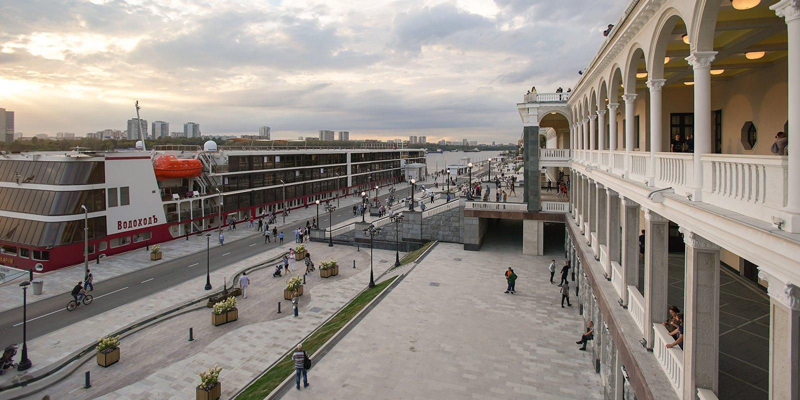На территории Северного речного вокзала летом появится курорт. Фото: mos.ru